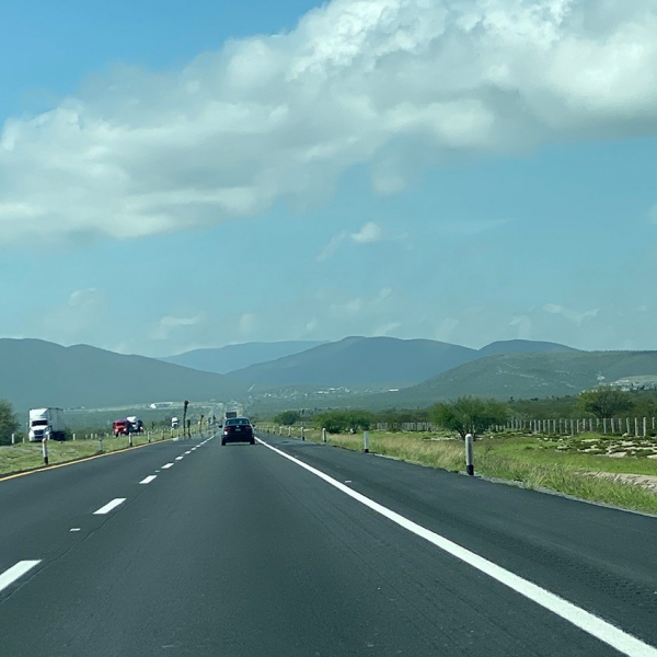 on the road in mexico